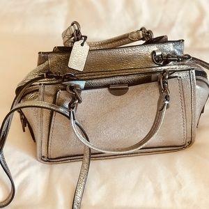 BRAND NEW Coach Dreamer 21 Silver Handbag